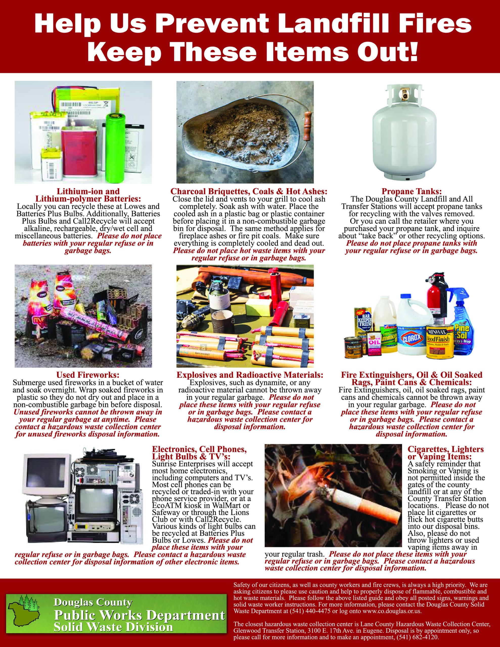 prevent landfill fires flier 719